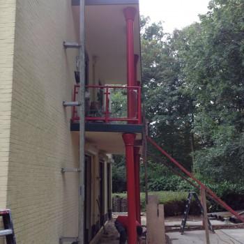 verzakte balkons westerlaan